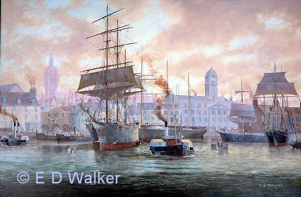 marine artist original ship oil paintings edward d walker