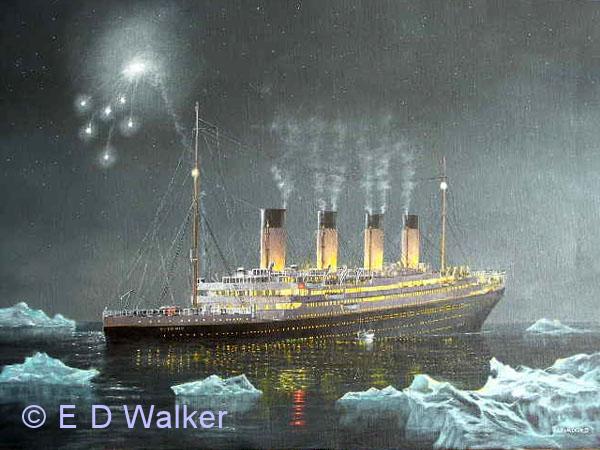 titanic synker model