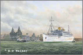 P.S.N.C. Reina del Pacifico in the Mersey