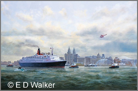 QE2 in the Mersey