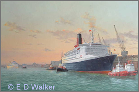 QE2 leaving Southampton