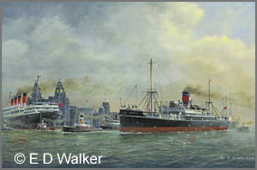 Shipping in the River Mersey (Circa 1924)